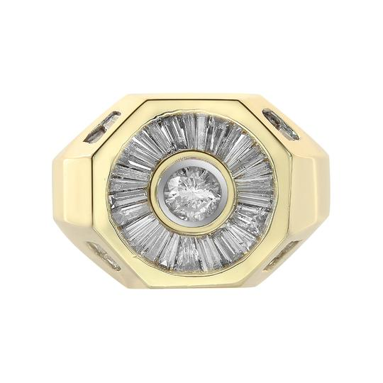 Preload https://img-static.tradesy.com/item/21592570/avital-and-co-jewelry-14k-yellow-gold-200-carat-round-and-baguette-cut-diamonds-men-s-ring-0-0-540-540.jpg