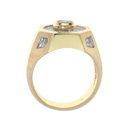 Avital & Co Jewelry 2.00 Carat Round And Baguette Cut Diamonds Men's Ring 14K Yellow Gold