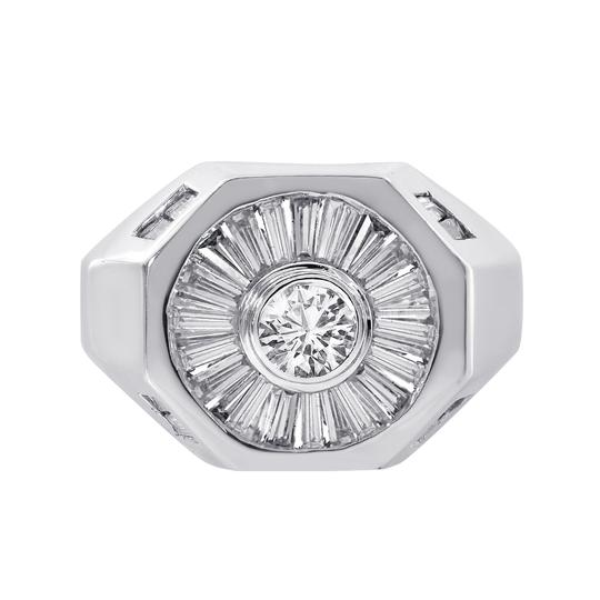 Preload https://img-static.tradesy.com/item/21592610/avital-and-co-jewelry-14k-white-gold-200-carat-round-and-baguette-cut-diamonds-men-s-ring-0-0-540-540.jpg