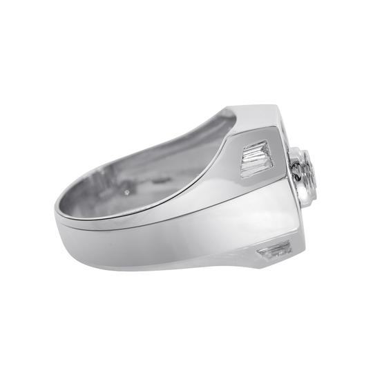 Avital & Co Jewelry 2.00 Carat Round And Baguette Cut Diamonds Men's Ring 14K White Gold