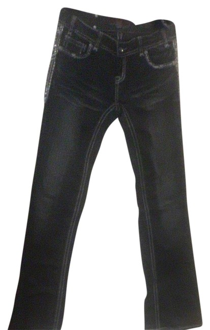 Rock and Roll Cowgirl Boot Cut Jeans-Dark Rinse