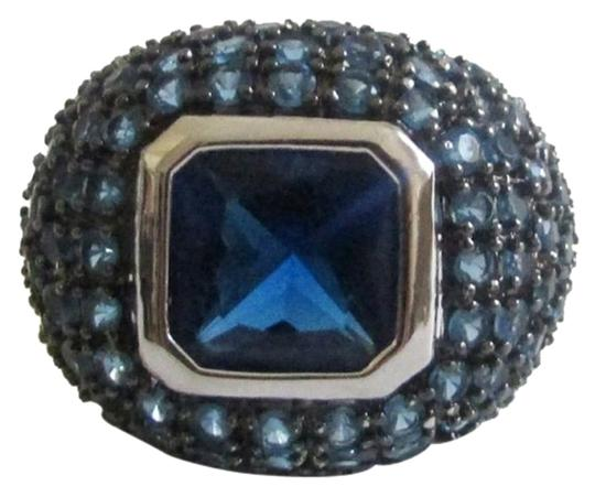 Preload https://item3.tradesy.com/images/real-collectibles-by-adrienne-925-sterling-silver-square-cut-blue-pave-dome-size-9-ring-2159312-0-1.jpg?width=440&height=440