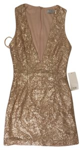 TOBI Gwyn Gold Sequin Mini Dress