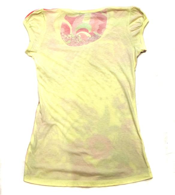 Shlomo T-shirt Pretty Spring Summer Sweet Adorable Fun T Shirt Yellow Floral