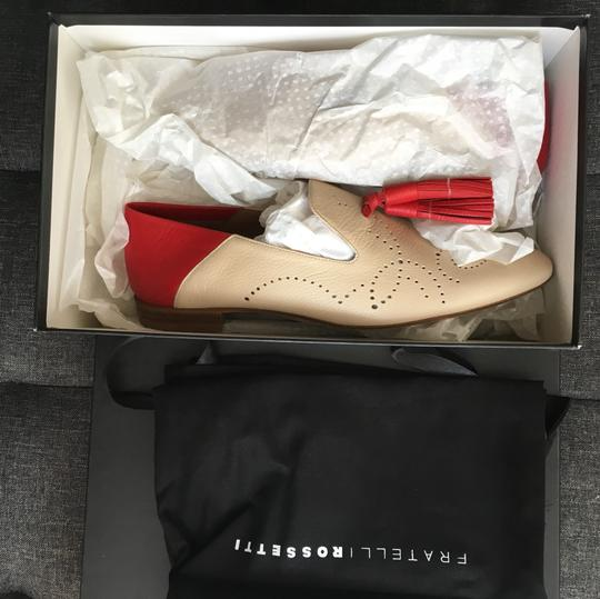 Fratelli Rossetti red & creme Flats Image 3