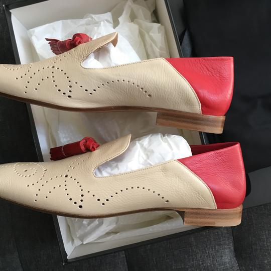 Fratelli Rossetti red & creme Flats Image 4