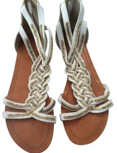Aldo Chains Braided White Flats