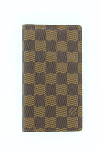 Louis Vuitton Louis Vuitton Damier Ebene Agenda Posh Cover Wallet R20703 LV