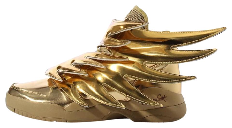 new product 529fd 3b3b2 Jeremy Scott Gold Adidas Js Wings 3.0 Sneakers