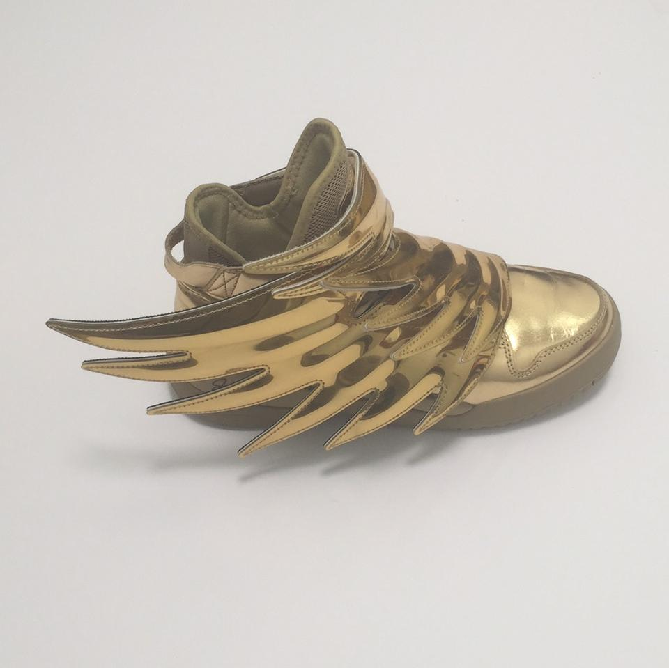 Jeremy Scott Gold Adidas Js Wings 3.0 Sneakers Size US 7 Regular (M ... b646e071d