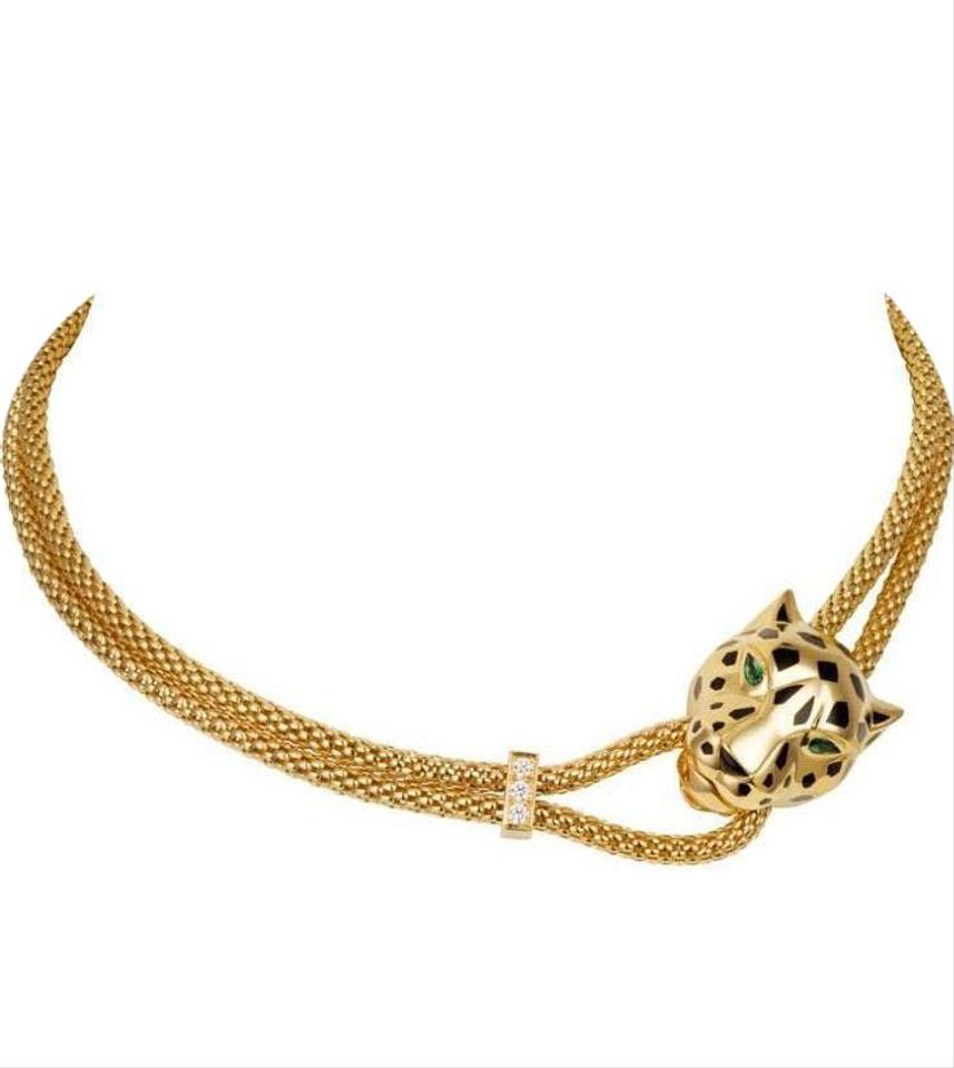 Cartier yellow gold panthere de necklace n7408338 tradesy cartier panthere de cartier necklace n7408338 mozeypictures Image collections