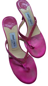 Jimmy Choo Sparkle Pink Sandals