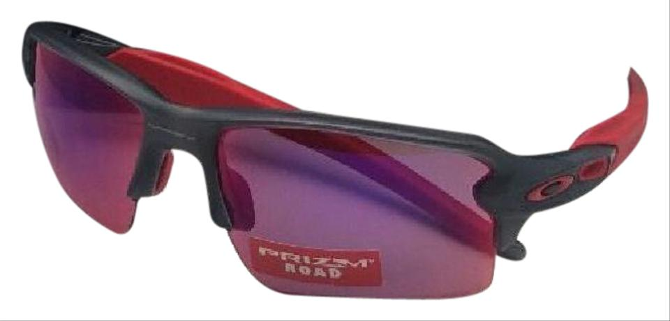 16538d4463 Oakley OAKLEY Sunglasses FLAK 2.0 XL OO9188-04 Matte Smoke Grey   Red w  ...