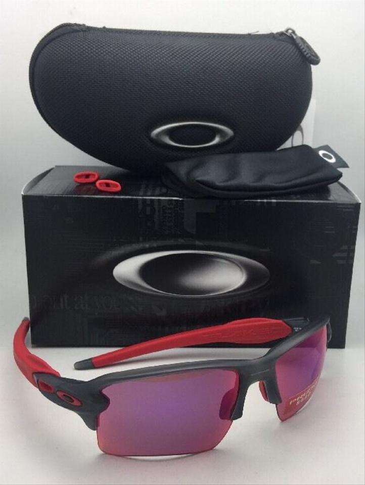 fddb9bef8c Oakley OAKLEY Sunglasses FLAK 2.0 XL OO9188-04 Matte Smoke Grey   Red w .  123456789101112