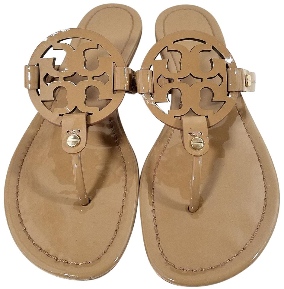 5fb75b6fa344 Tory Burch Nude Patent Miller Sandals. Size  US 8 Regular (M ...