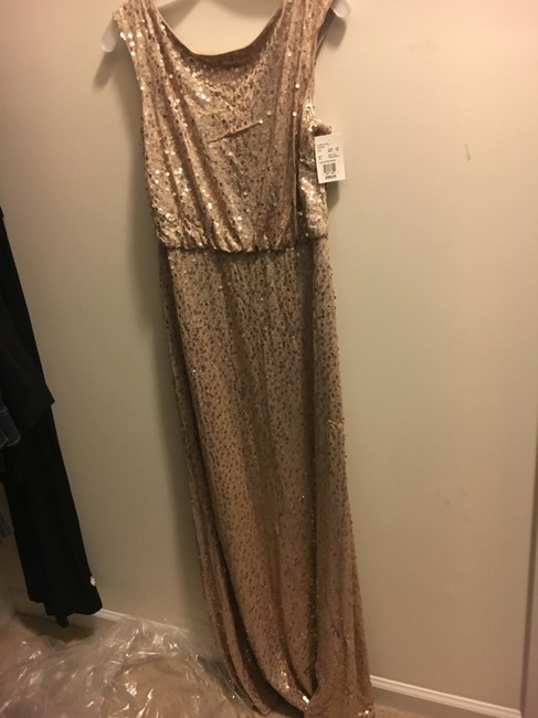 Item - Gold Sequin F19022 Formal Bridesmaid/Mob Dress Size 12 (L)