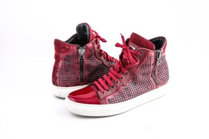 MCM Red * Celebrity Spike Sneakers Shoes