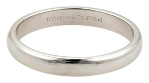 Tiffany & Co. Platinum 3mm Wide Plain Dome Wedding Band Ring Size 7.5