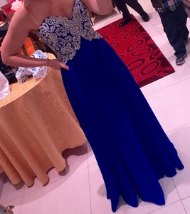 Jasz Couture Royal Blue Dress