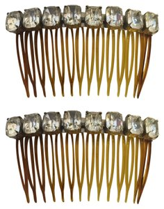 Other Emerald-Cut Crystal Rhinestone Duo Hair Comb Accessories [ Roxanne Anjou Closet ]