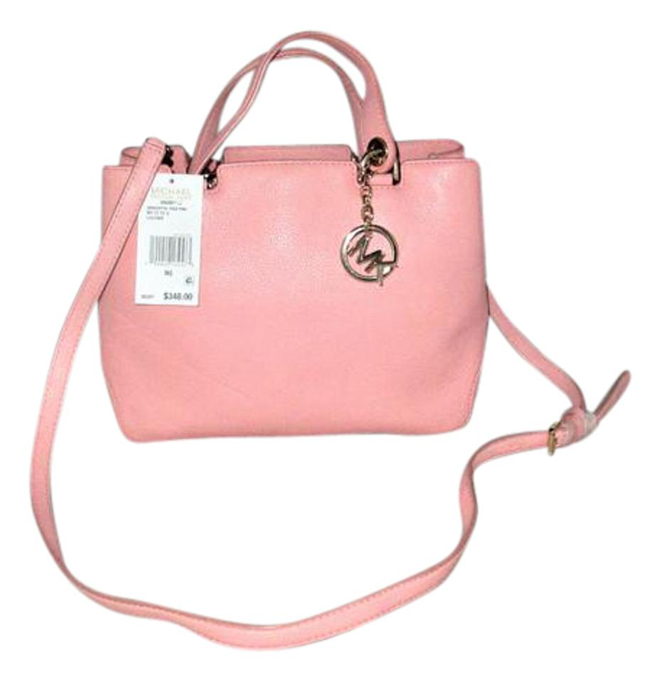 c2494d5f3eb9 Michael Kors Handbag Anabelle Medium Top Zip Tote Satchel Hobo Cross-body  Pale Pink Pebbled Leather Shoulder Bag