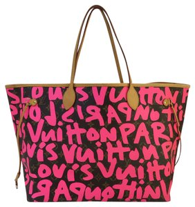 Louis Vuitton Lv Graffiti Gm Neverrfull Canvas Shoulder Bag
