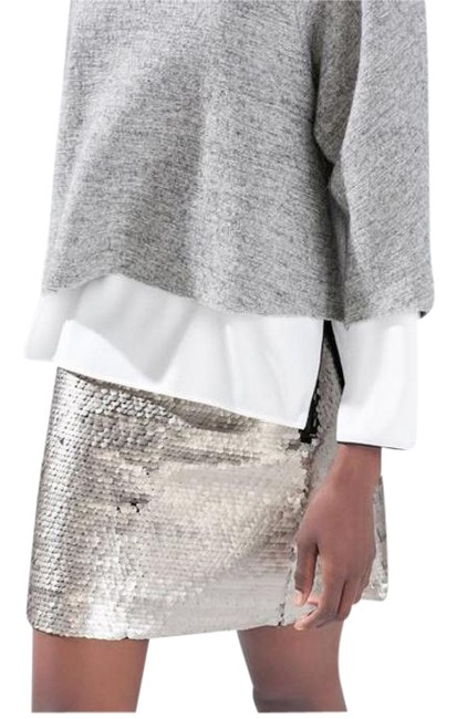 Item - Silver Sequin Skirt Size 2 (XS, 26)