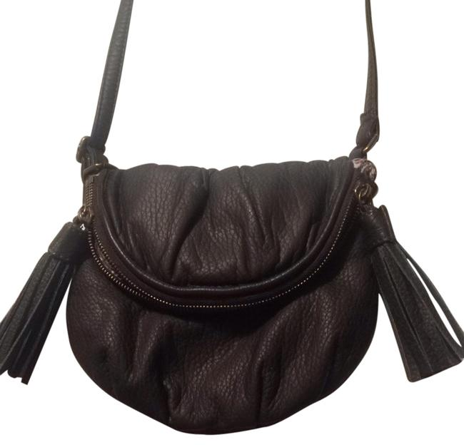 Item - Gray/Brown Leather Cross Body Bag