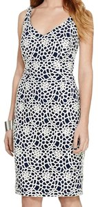 Lauren Ralph Lauren short dress Ivory Blue on Tradesy