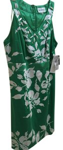 Studio One short dress Green and White on Tradesy