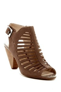 Vince Camuto Block Heel Wide Dark Beige Sandals