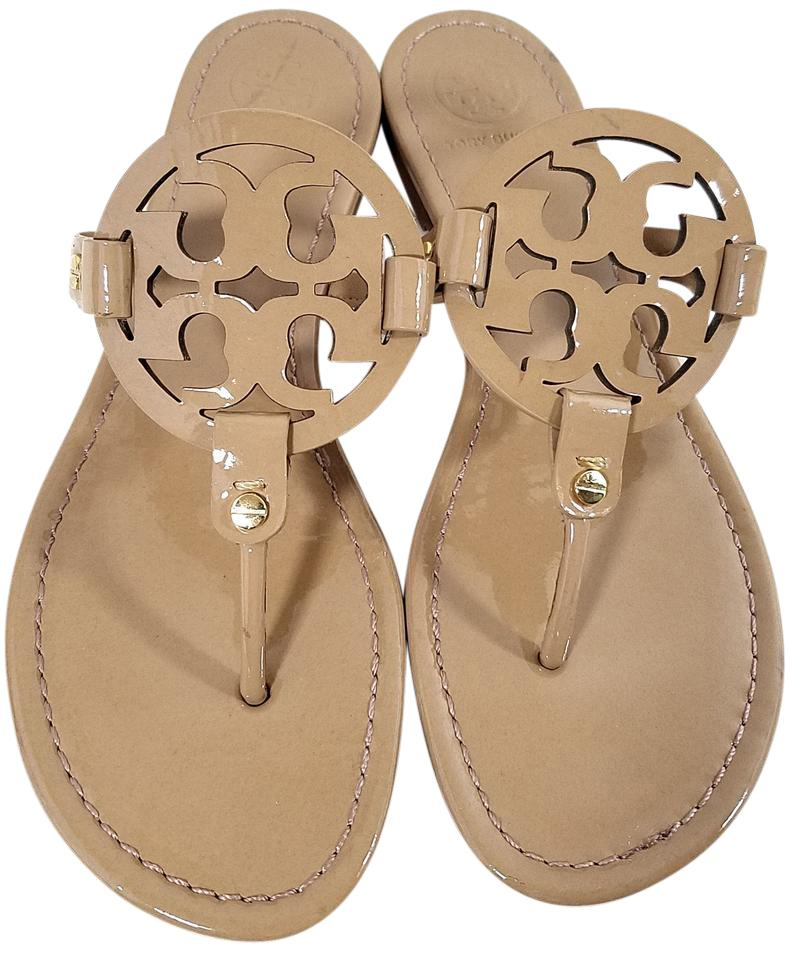 4d5cd44d0858 Tory Burch Nude Patent Miller Sandals Size US 9.5 Regular (M