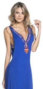 Royal Blue Maxi Dress by OndadeMar Spandex Rayon