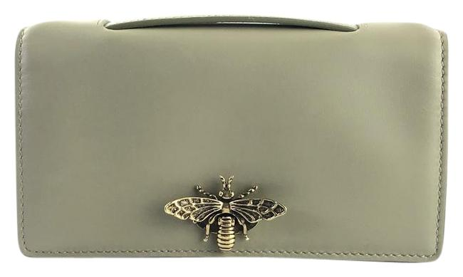 Item - Bee Grey-green Leather Clutch