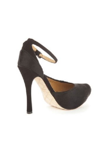 L.A.M.B. Like New Pounce Pony Hair Ankle Strap 10 Pumps Image 1