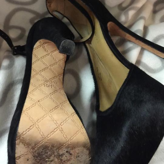 L.A.M.B. Like New Pounce Pony Hair Ankle Strap 10 Pumps Image 2