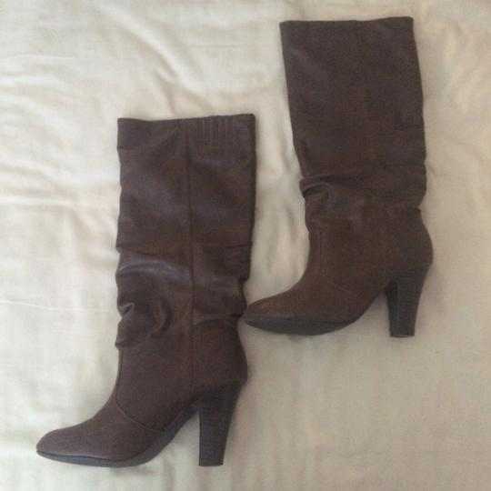 Qupid Brown Boots Image 1
