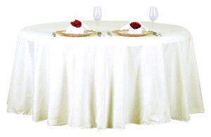 "Tablecloths Factory Ivory (19) 120"" Round Tablecloth"