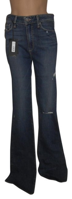 Item - Silas Destructed Distressed High Rise Bell Canyon Flare Leg Jeans Size 30 (6, M)