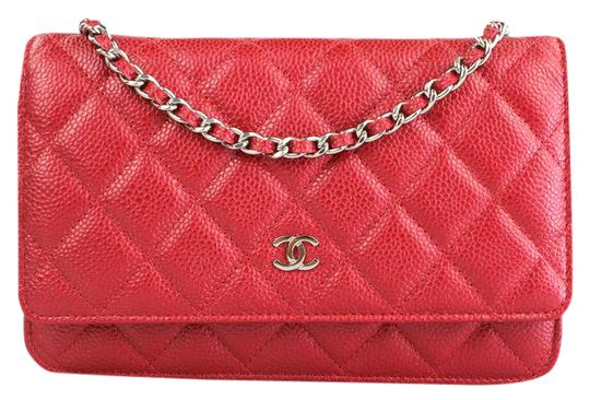 Preload https://item1.tradesy.com/images/chanel-wallet-on-chain-quilted-red-leather-shoulder-bag-2159855-0-2.jpg?width=440&height=440