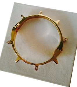 Other Gold-Tone & Crystal Spike Hinged Bracelet