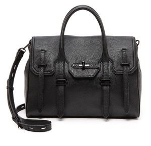 Rebecca Minkoff Jules Leather Satchel in Black
