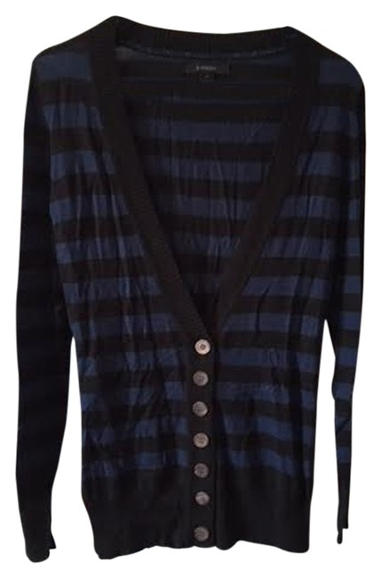 Preload https://img-static.tradesy.com/item/2159946/express-blue-and-black-cardigan-size-10-m-0-0-650-650.jpg