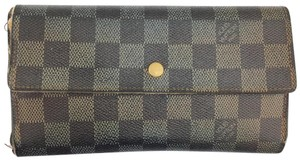 Louis Vuitton #12397 *Clearance* Long Flap Wallet Pocket Card Case Coin Sarah