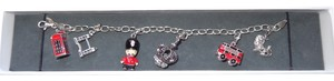 Argento Vivo Sterling Silver Charm Bracelet With Six London Themed Charms