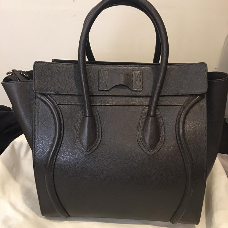 Leather Chocolate Céline Luggage Tote Brown Deep xEPIZq