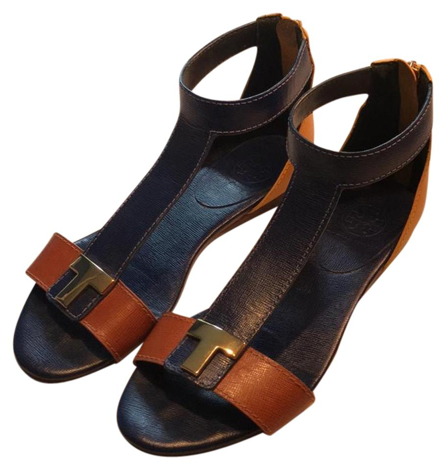 Tory Burch Royal Blue Unknown Yellow and Tan Unknown Blue Sandals 51c7b0