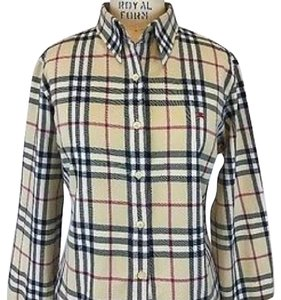 Burberry Button Down Shirt Multi Color