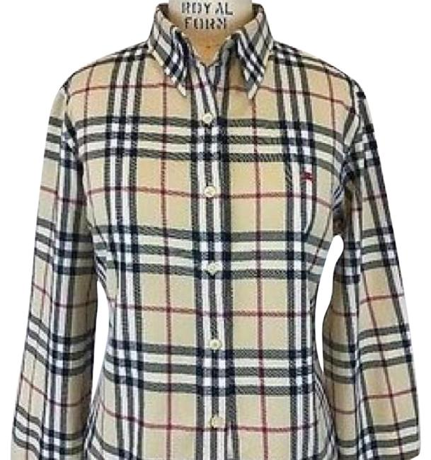 Burberry Button Down Shirt Multi Color Image 0