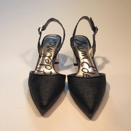 Sam Edelman black with metallic silver heel Pumps Image 1